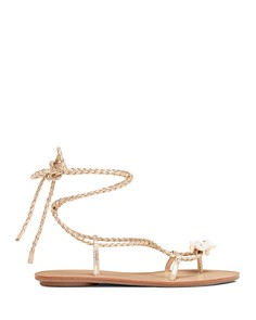 Loeffler Randall - Women's Shelly Leather Flat Sandals