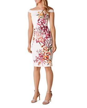 867679cf076 KAREN MILLEN - Orchid Off-the-Shoulder Sheath Dress ...