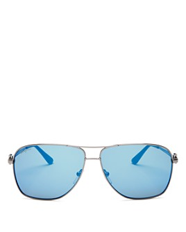 Salvatore Ferragamo - Men's Gancio Aviator Sunglasses, 61mm