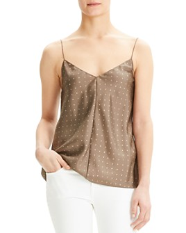 Theory - Easy Printed-Silk Camisole Top