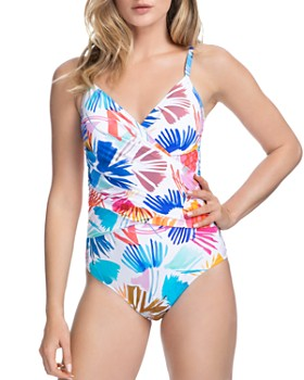 Profile by Gottex - Splash Crossover V-Neck One Piece Swimsuit