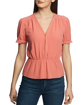 1.STATE - V-Neck Peplum Top