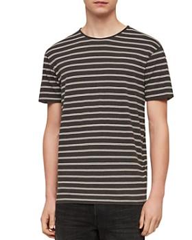 ALLSAINTS - Figure Stripe Cotton Crewneck Tee