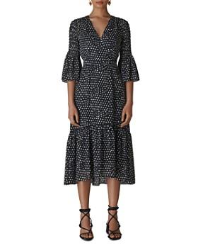 Whistles - Advika Dot-Print Midi Dress
