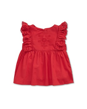 Ralph Lauren - Girls' Eyelet & Ruffle Top - Baby