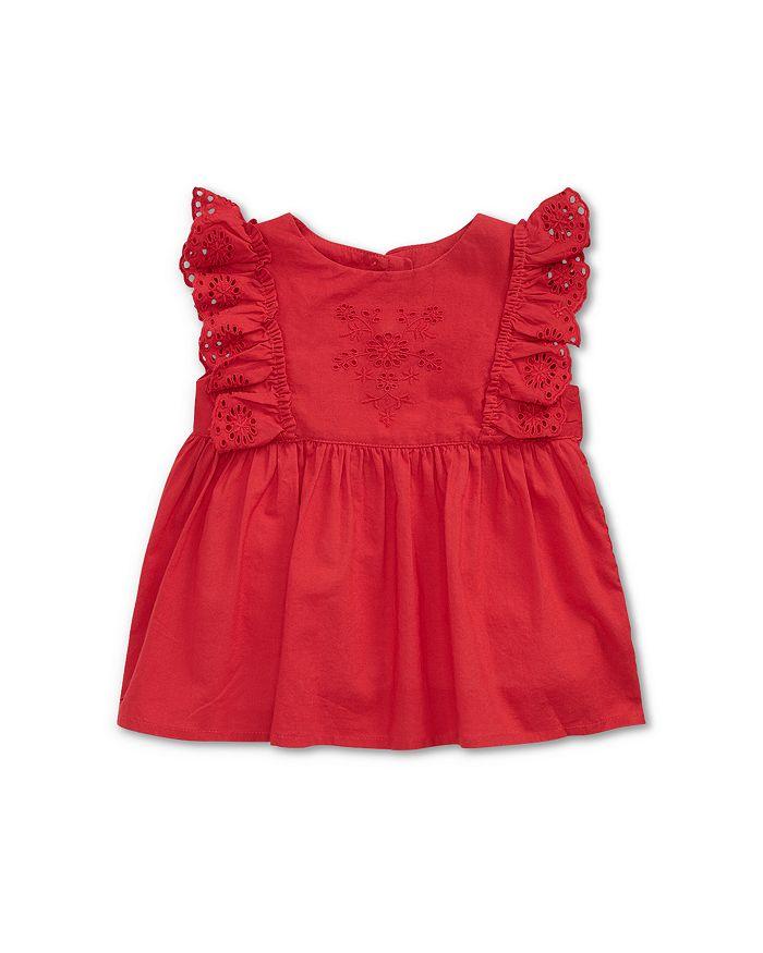 Ralph Lauren - Girls' Eyelet & Ruffle Top - Baby