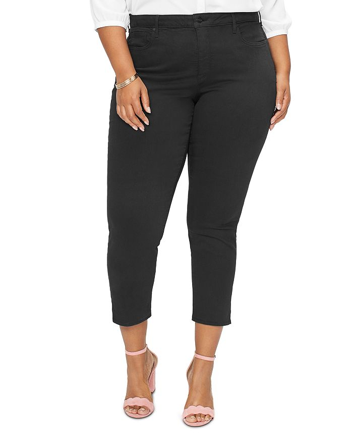 NYDJ Plus - Ami Skinny Ankle Jeans in Black