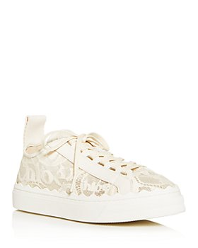 Chloé - Women's Lauren Lace Low-Top Sneakers