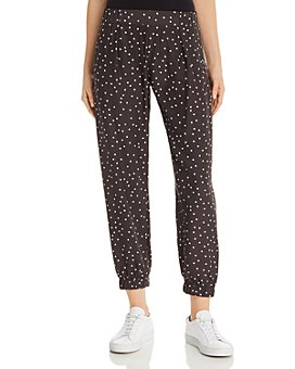 ATM Anthony Thomas Melillo - Polka-Dot-Printed Silk Jogger Pants