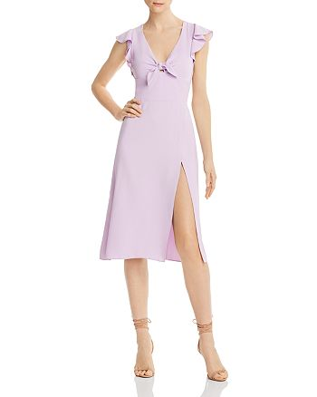 Amanda Uprichard - Ember Tie-Detail Midi Dress