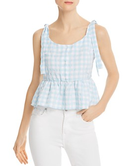 The Fifth Label - Nouveau Gingham Peplum Top