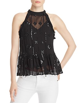 Generation Love - Aria Embellished Peplum Top