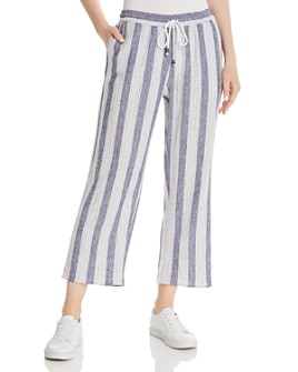 Rails - Agnes Striped Cropped Wide-Leg Pants