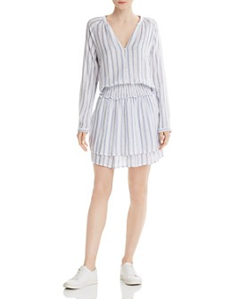 Rails - Jasmine Striped Smocked Dress