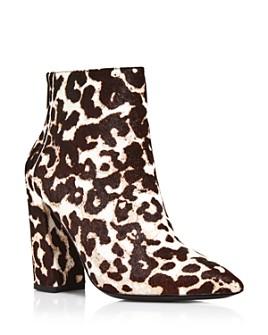 Charles David - Women's Snow Leopard Block Heel Boots
