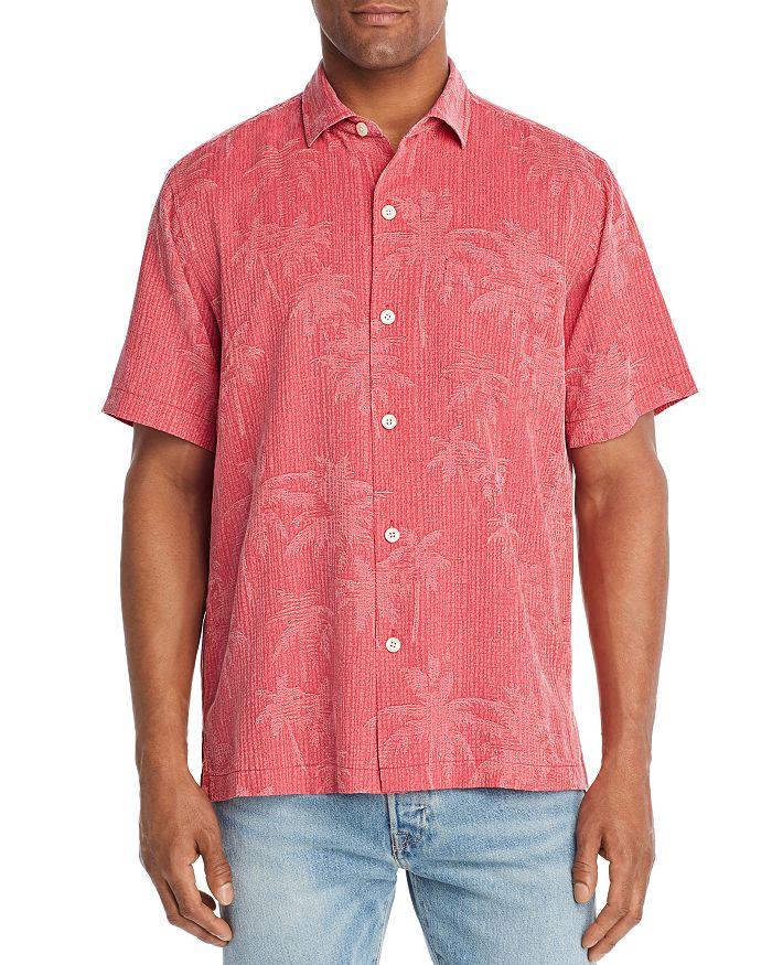 Tommy Bahama - Digital Palm Short-Sleeve Silk Jacquard Classic Fit Shirt