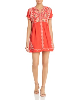 Johnny Was - Embroidered Cotton Dress
