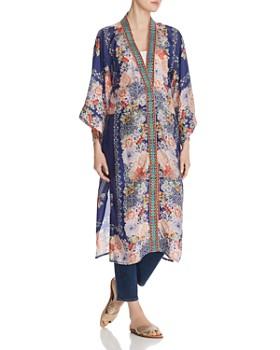 d2da3e42269 Johnny Was - Blati Silk Floral-Print Kimono ...