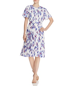 BOSS - Diplissee Pleated Floral-Print Dress