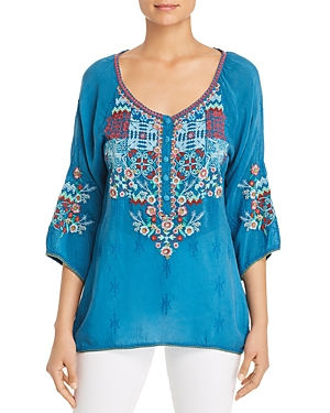 Johnny Was Muna Embroidered Top