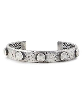 John Varvatos Collection - Sterling Silver Artisan Metals Rivet Cuff Bracelet