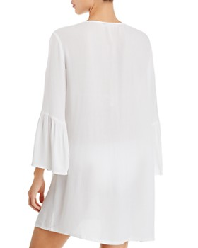 Tommy Bahama - Embroidered Bell-Sleeve Dress Swim Cover-Up