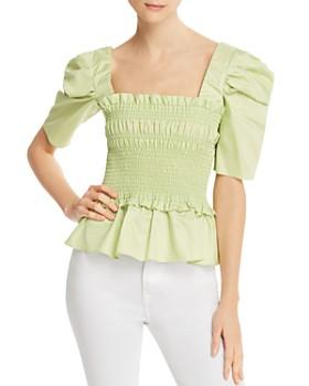 ccd1f7386880 Amanda Uprichard - Marisol Ruffled Smocked Top - 100% Exclusive ...