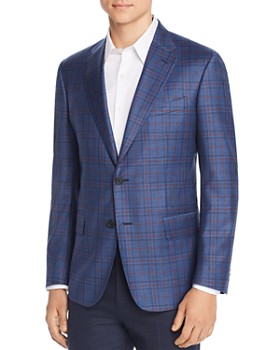 The Men's Store at Bloomingdale's - Plaid Regular Fit Sport Coat