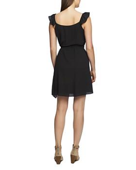 1.STATE - Sleeveless Ruffled Wrap Dress
