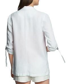 1.STATE - Linen Roll-Sleeve Blazer