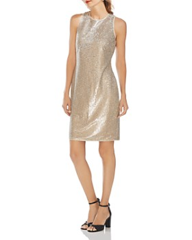 VINCE CAMUTO - Two-Tone Sequined Dress