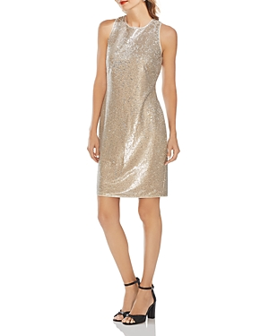 Vince Camuto Two-Tone Sequined Dress