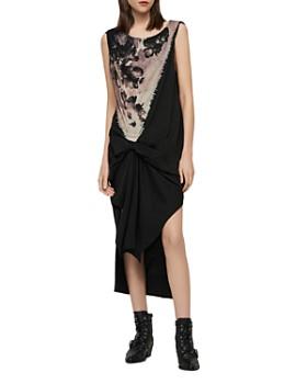 19d2463b1ca7 ALLSAINTS - Riviera Flora Gathered Dress ...