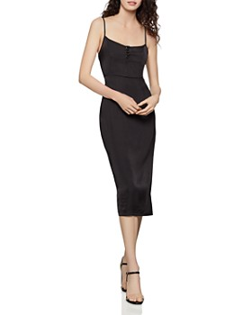 c60637f0001 BCBGENERATION - Satin Midi Dress ...