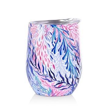 Lilly Pulitzer - Insulated Stemless Tumbler, Kaleidoscope Coral