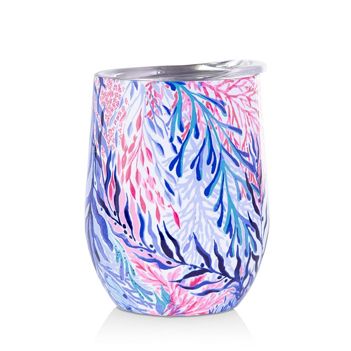 Lilly Pulitzer Insulated Stemless Tumbler, Kaleidoscope Coral
