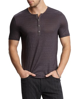 John Varvatos Collection - Linen Regular Fit Henley