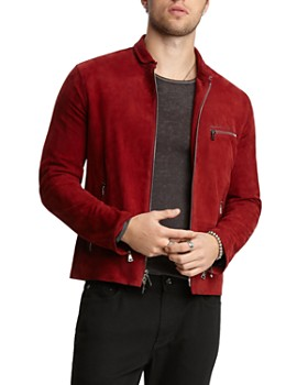 John Varvatos Collection - Suede Zip-Front Jacket