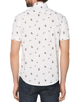 Original Penguin - Dad Short-Sleeve Printed Slim Fit Button-Down Shirt