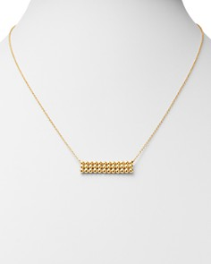 "Bloomingdale's - Beaded Rectangle Bar Necklace in 14K Yellow Gold, 24"" - 100% Exclusive"