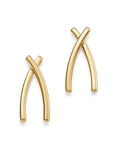 Bloomingdale's - Medium X Drop Earrings in 14K Yellow Gold - 100% Exclusive