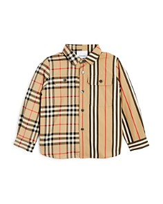 Burberry - Boys' Amir Panelled Vintage Check & Icon Shirt - Little Kid, Big Kid