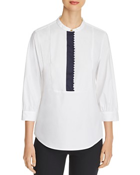 7a9b5279bd2 ... Skinny Jeans in White001. $145.00. Donna Karan - Trimmed-Placket Henley  Top ...