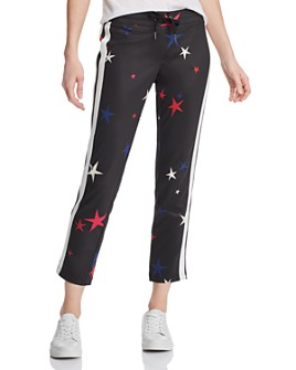 PAM & GELA - Star Print Cropped Track Pants