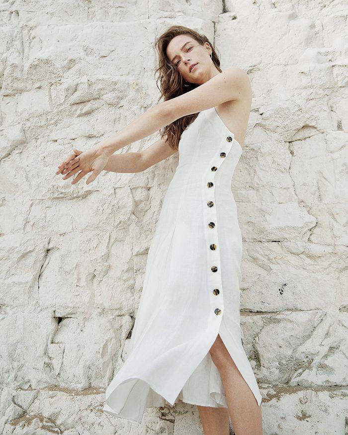 f0da579683 Whistles - Nina Button-Detail Midi Dress
