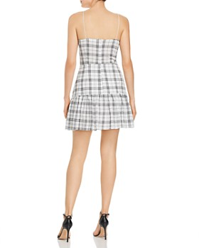 Finders Keepers - Sadie Plaid Drawstring-Detail Mini Dress