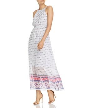 217b1f6357 AQUA - Floral Tile Print Maxi Dress - 100% Exclusive ...