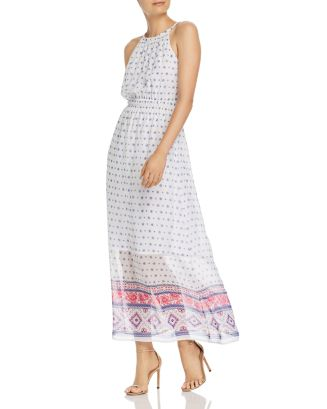 Floral Tile Print Maxi Dress   100% Exclusive by Aqua
