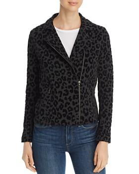 Majestic Filatures - Leopard-Print Moto Jacket