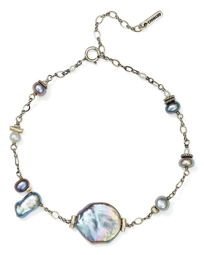 Chan Luu - Cultured Freshwater Pearl Adjustable Bracelet in 18K Gold-Plated Sterling Silver or Sterling Silver